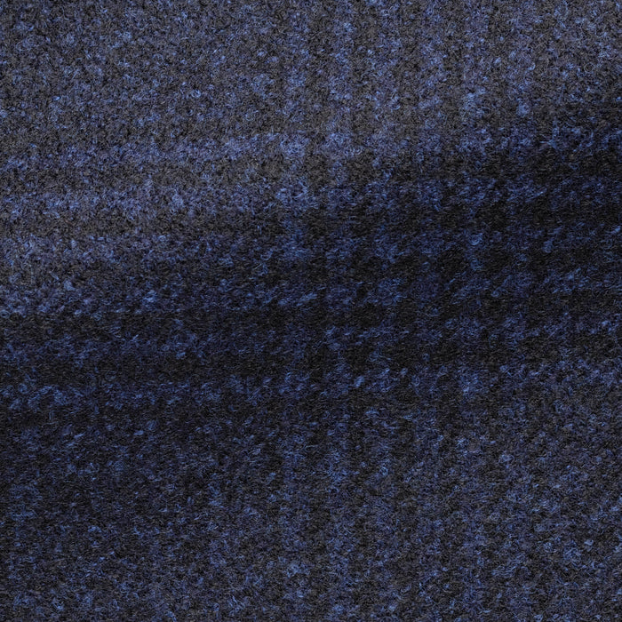 BLUE WOOL WITH GLENCHECK