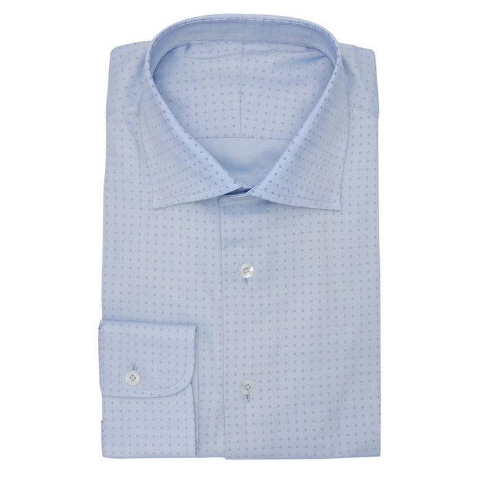 l.blue oxford fine print d.blue