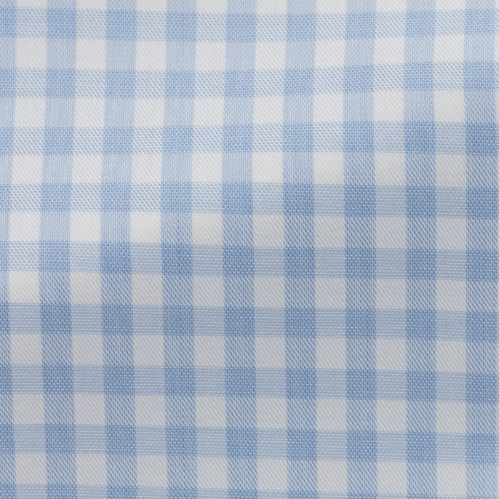 WHITE COTTON WITH BLUE CHECK