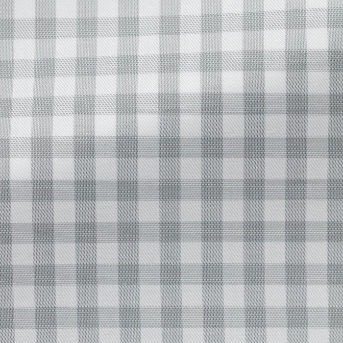 WHITE COTTON WITH LIGHT GREY CHECK
