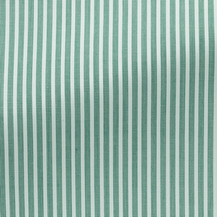 WHITE COTTON WITH PINE STRIPE