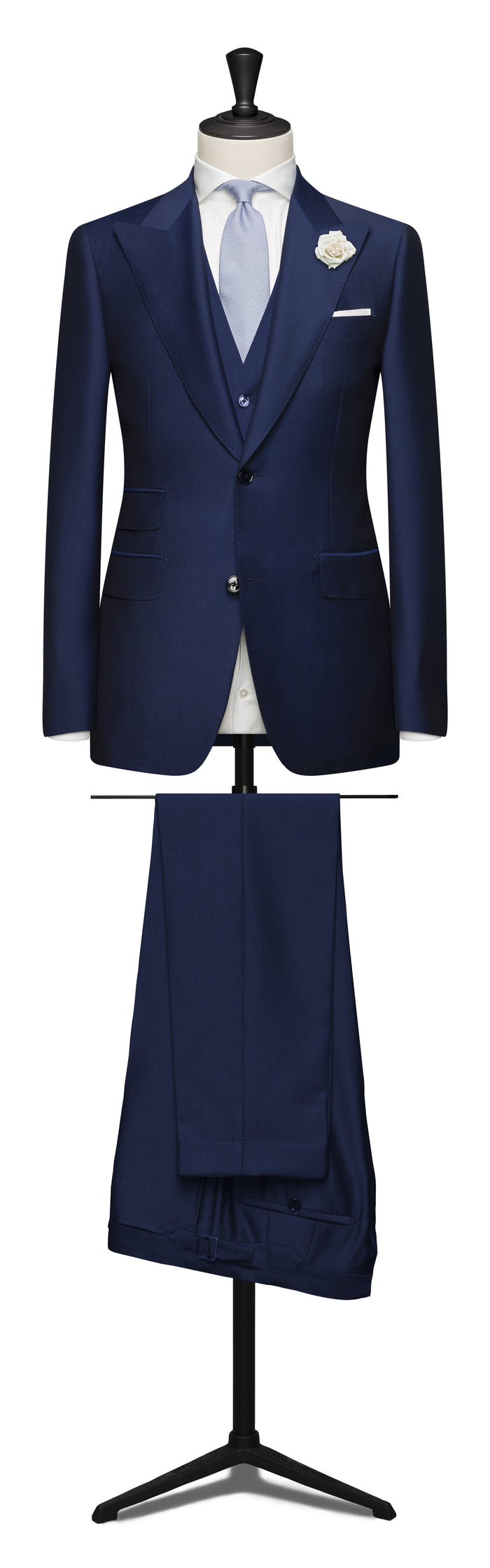 3-PIECE NAEPOLITAN BLUE WEDDING SUIT
