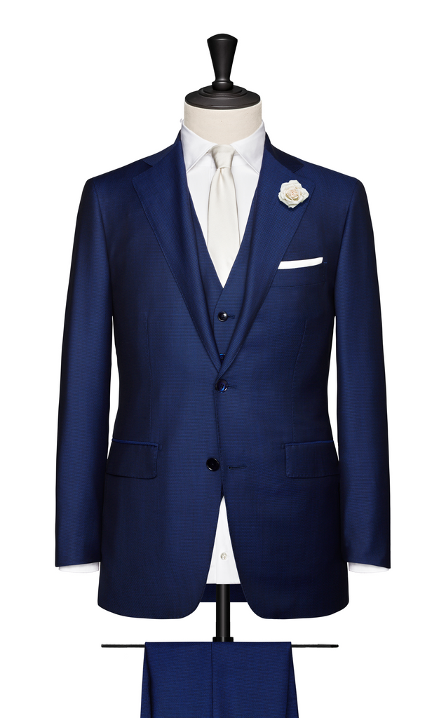 3-PIECE ROYAL BLUE WEDDING SUIT