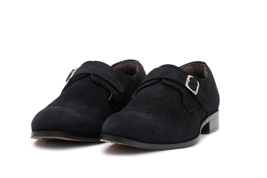 Dark Blue Suede Single Monkstrap