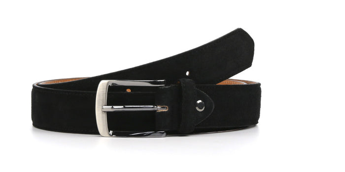 Belt Black Suede Zano