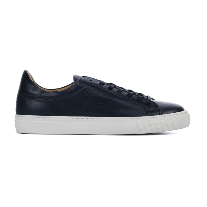 Dark Blue Leather Sneaker