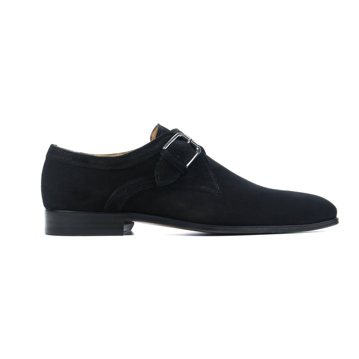 Single Monk Black Suede