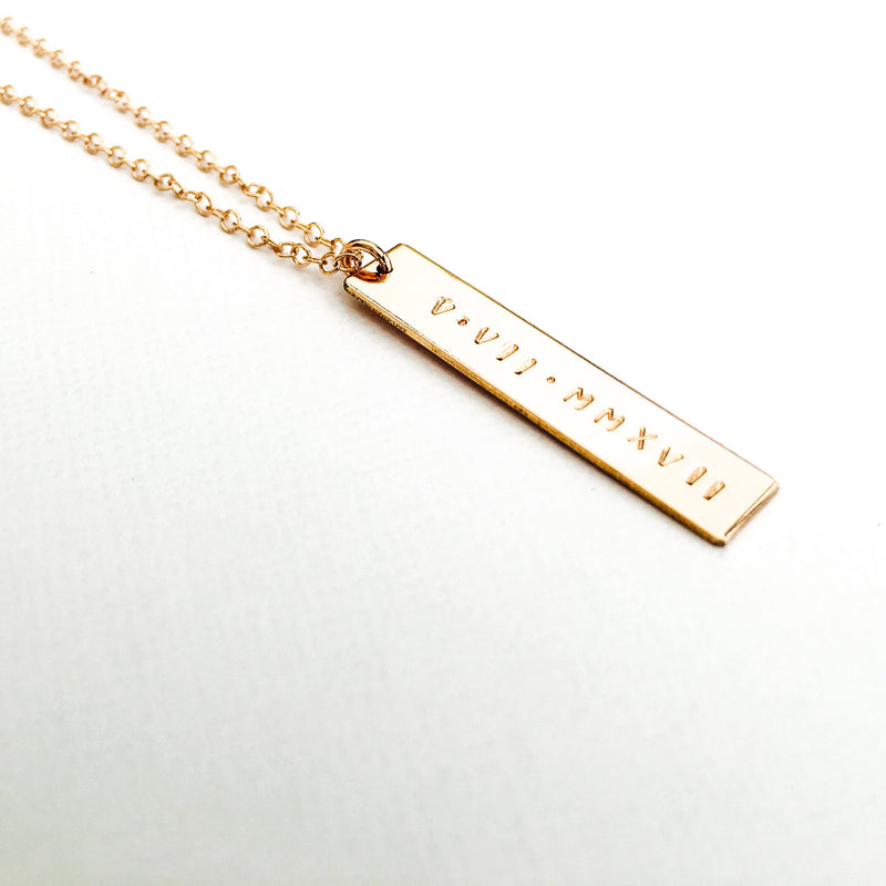 Alex - Hanging Bar Necklace