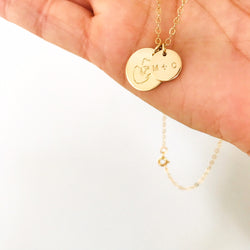 Mumma Bear Necklace - Medium & Small Pendant Necklace
