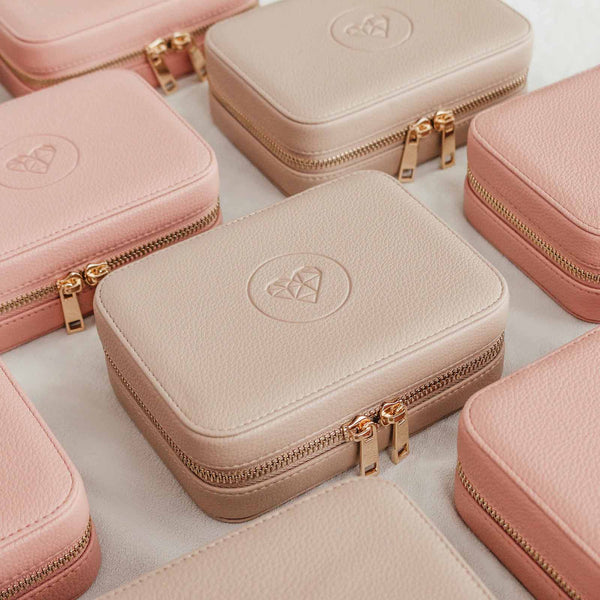 Jewellery Travel Case - Beige