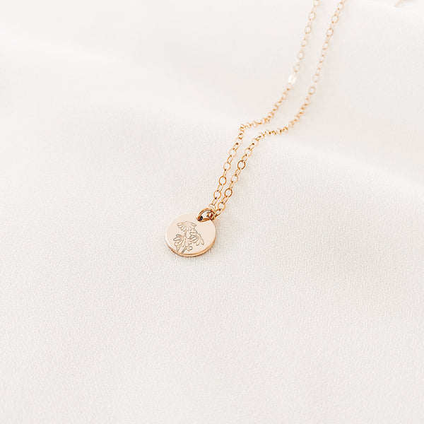 Daisy • April Flower • Purity - Small Pendant Necklace