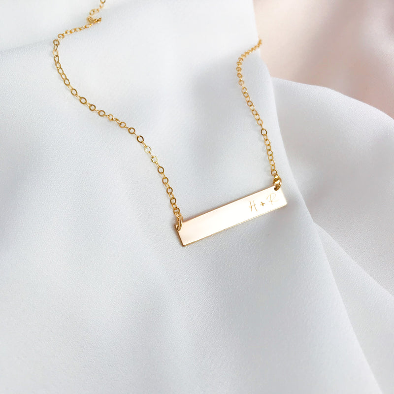 Indi - Short Bar Necklace