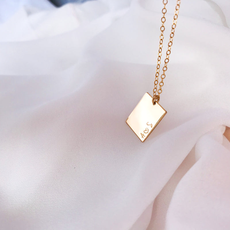 You + Me Rectangle Pendant