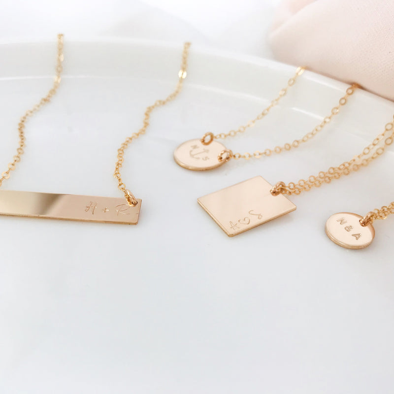 You + Me Bar Necklace