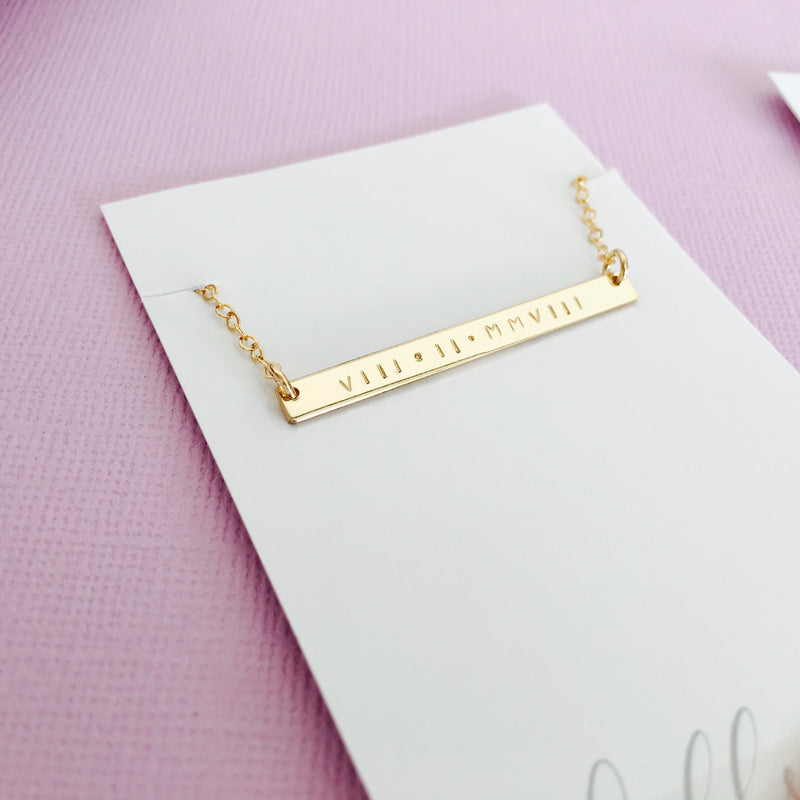 Isla - Skinny Bar Necklace