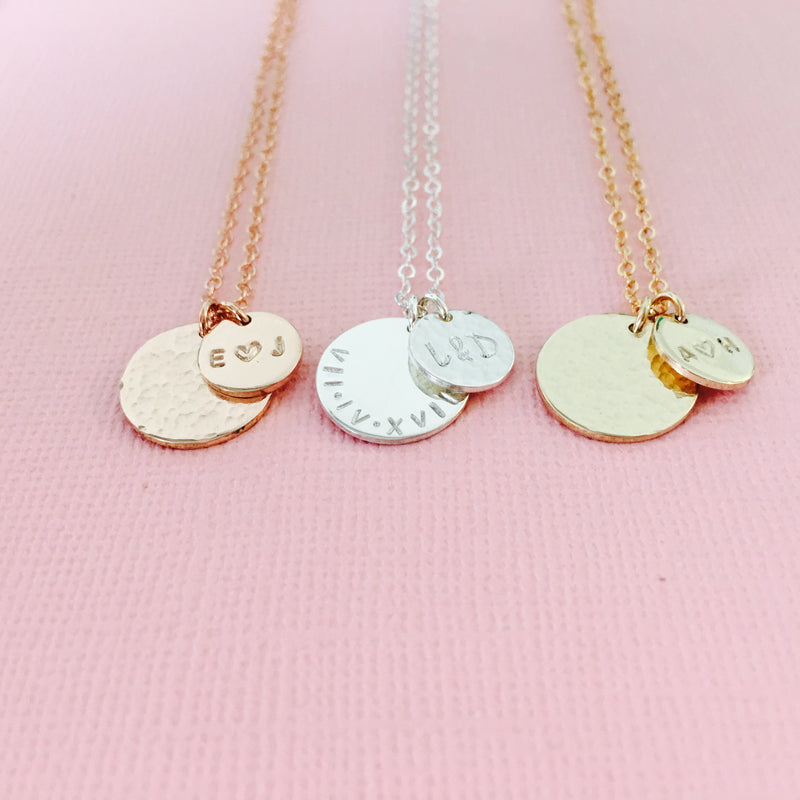 Lola - Medium & Small Pendant Necklace
