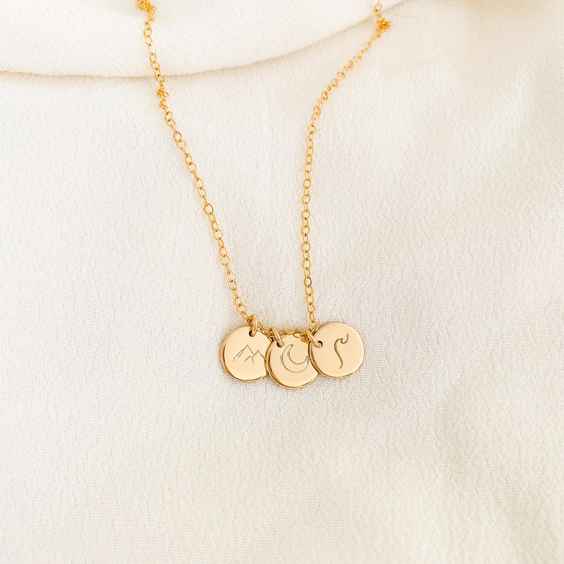 Mountain Symbol Necklace