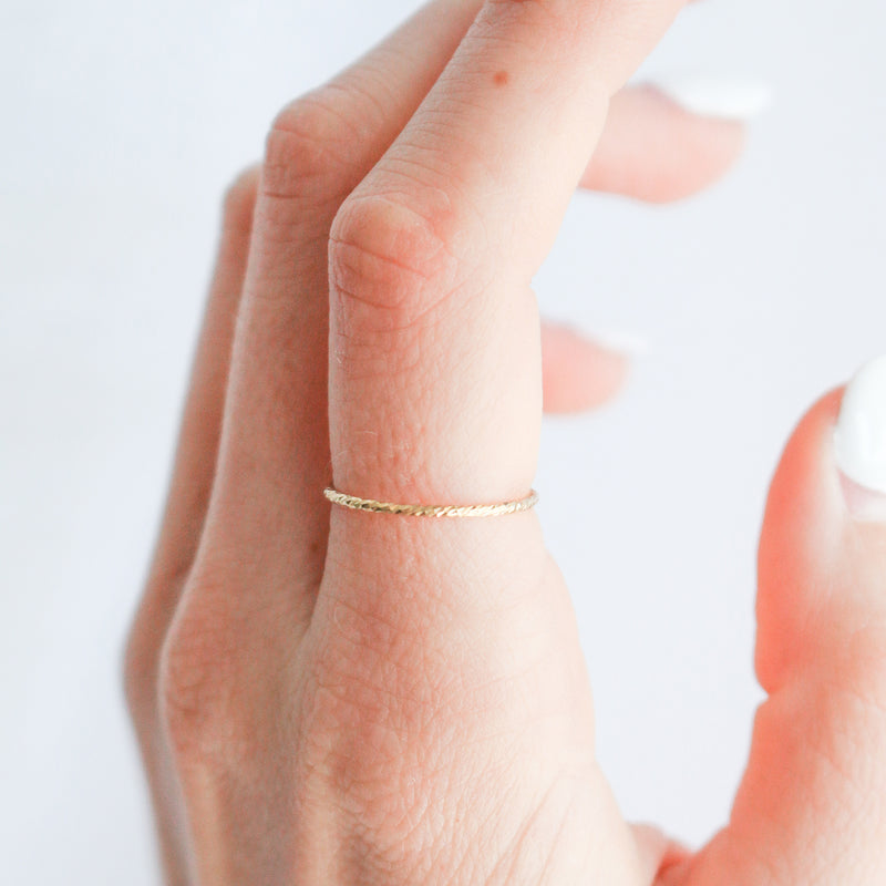 Casey - Shimmer Stacking Ring
