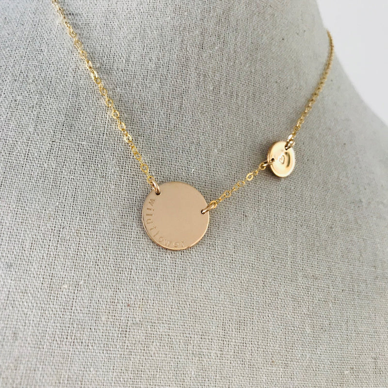 Billie - Large Pendant Necklace with Fixed Small Pendant