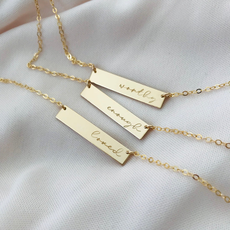 Self Love Bar Necklace