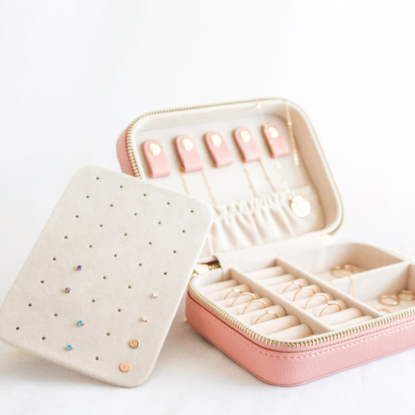 Jewellery Travel Case - Blush Pink