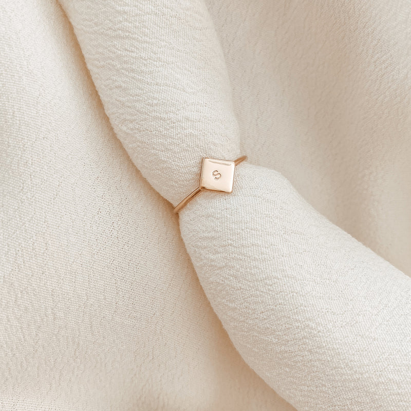 Remi • Small Diamond Pendant Ring