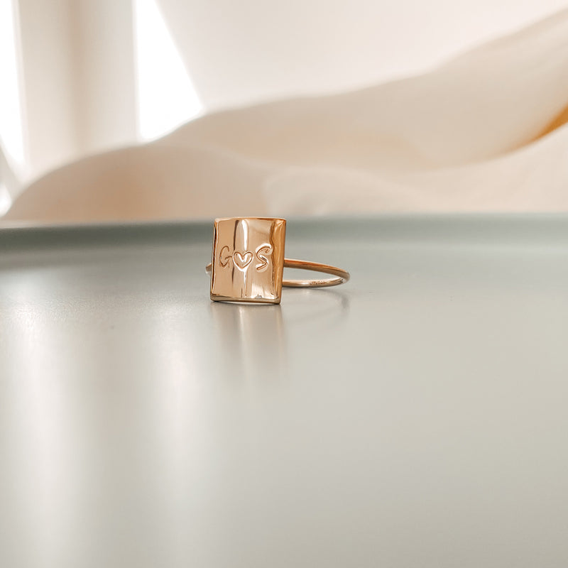 Romy • Square Pendant Ring
