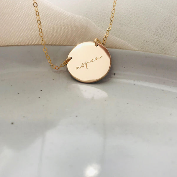 Aspen - Extra Large Pendant Necklace 2 Hole
