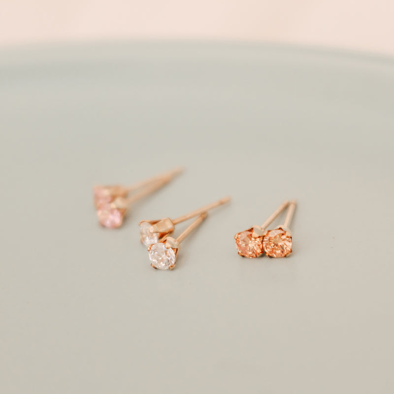 Birthstone Studs • October