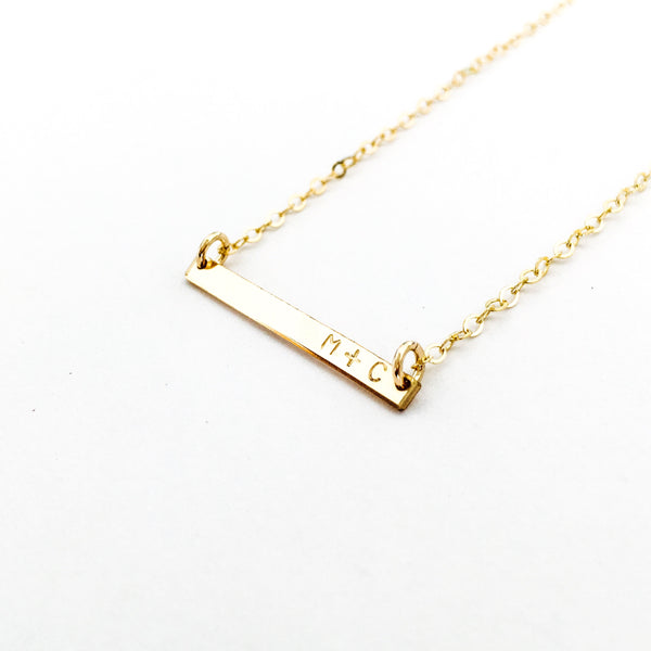 Tilly Tiny bar Initial Necklace australia