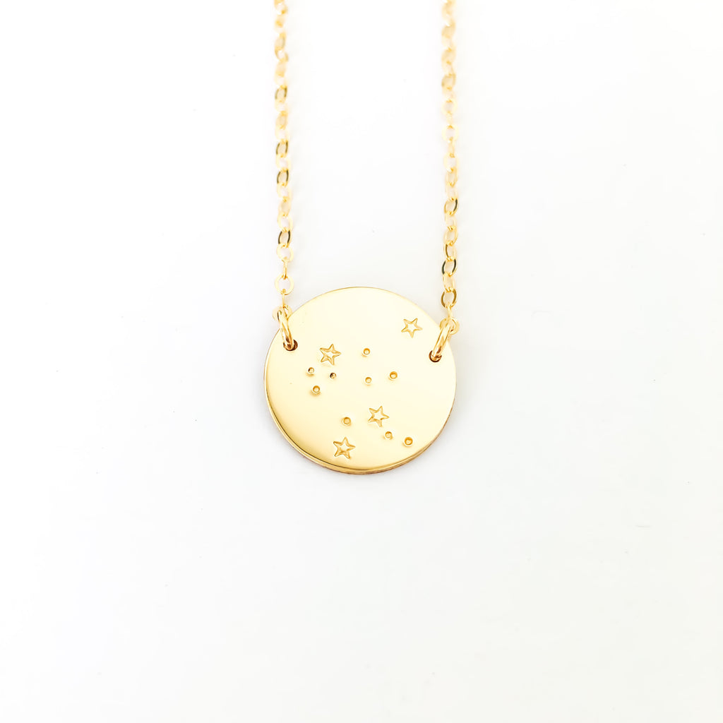 constellation necklace, hand stamped jewellery australia