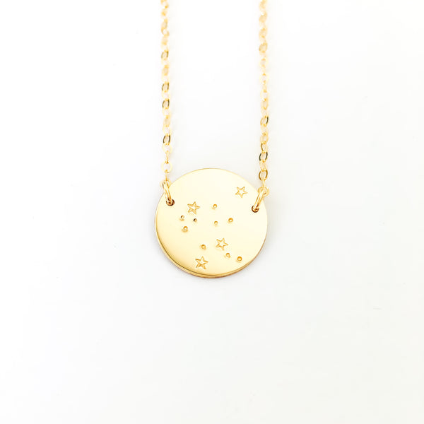 celestial shiny gold in normal wheel and constellation necklace metallic product alex jewelry ani leo lyst