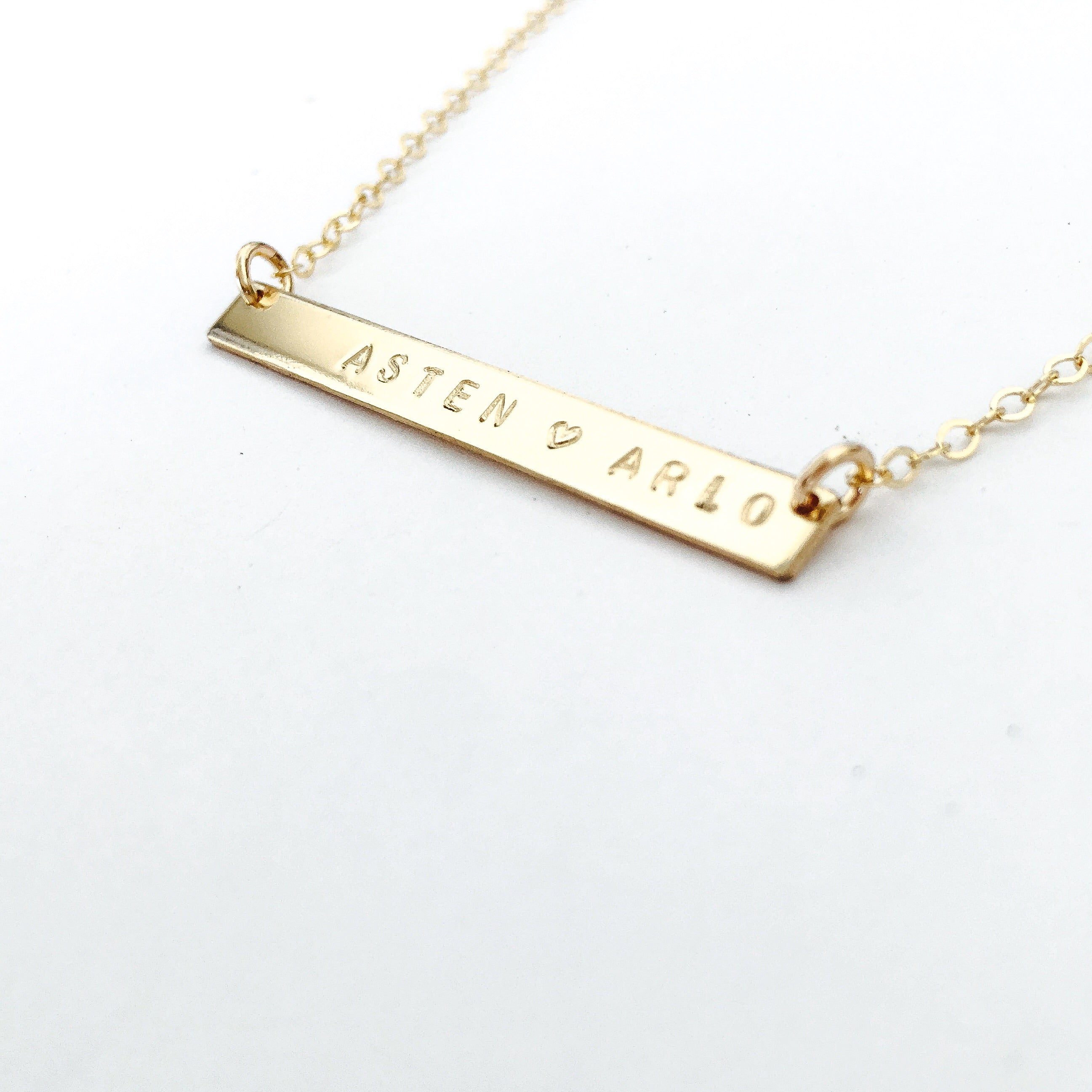 Isla Skinny Bar name Necklace australia
