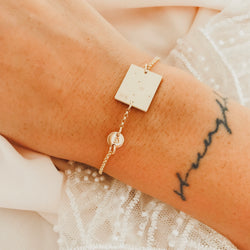 Ari Bracelet - Rectangle with Tiny Pendant Bracelet