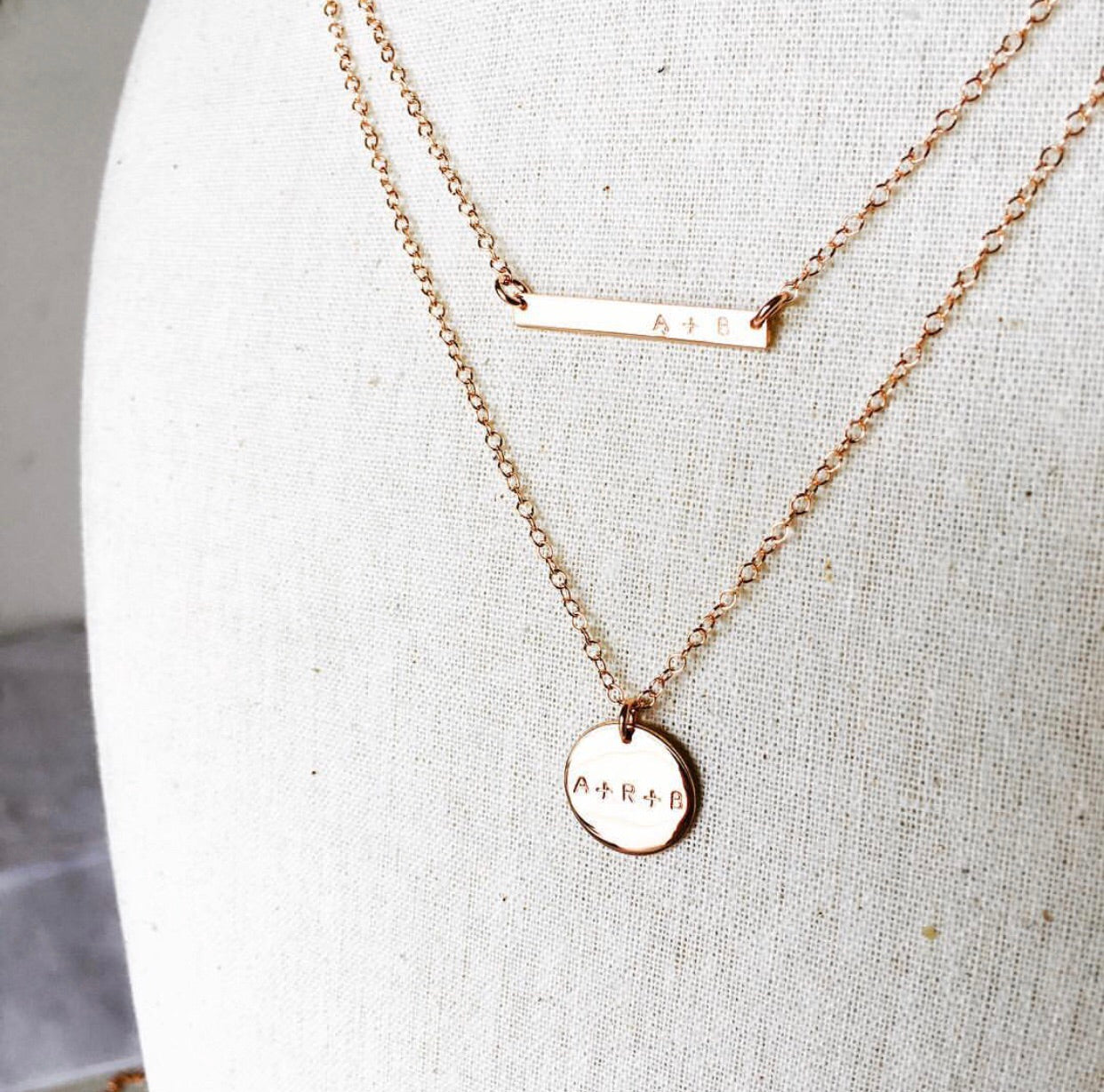 Eva Bar + Chloe Pendant Necklaces