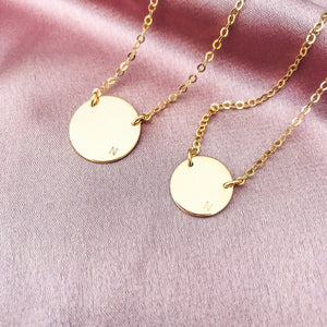 Frankie - Off Centre Initial Necklace - Double Hole