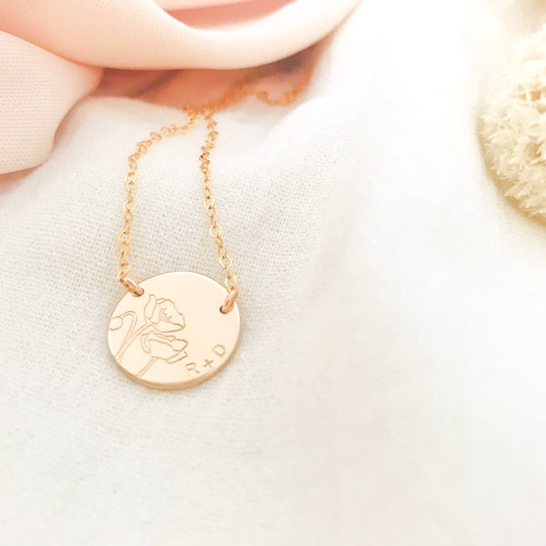 Fiori Poppy Necklace - Large Double Hole Pendant
