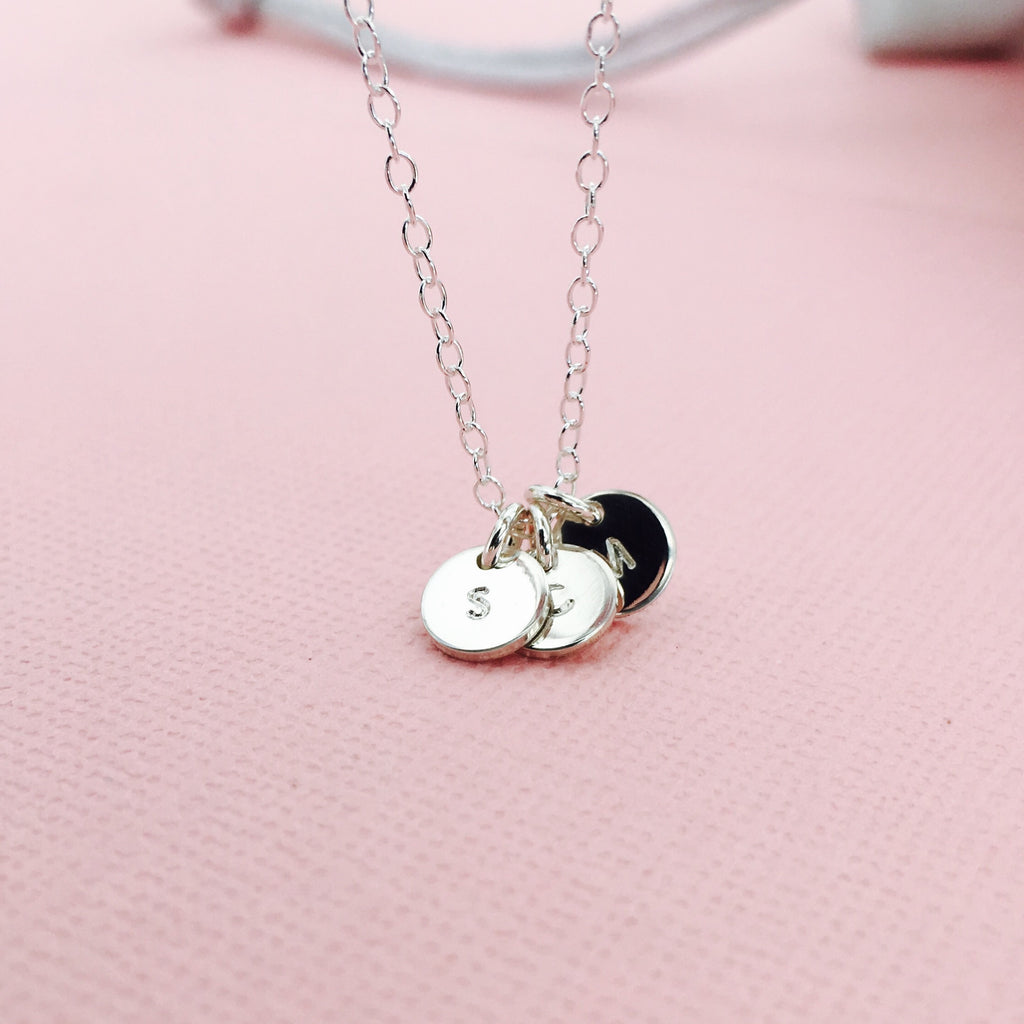 Florence - Tiny Pendant Necklace - Choose Number of Pendants