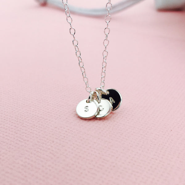 Florence tiny pendant necklace choose number of pendants aloadofball Gallery