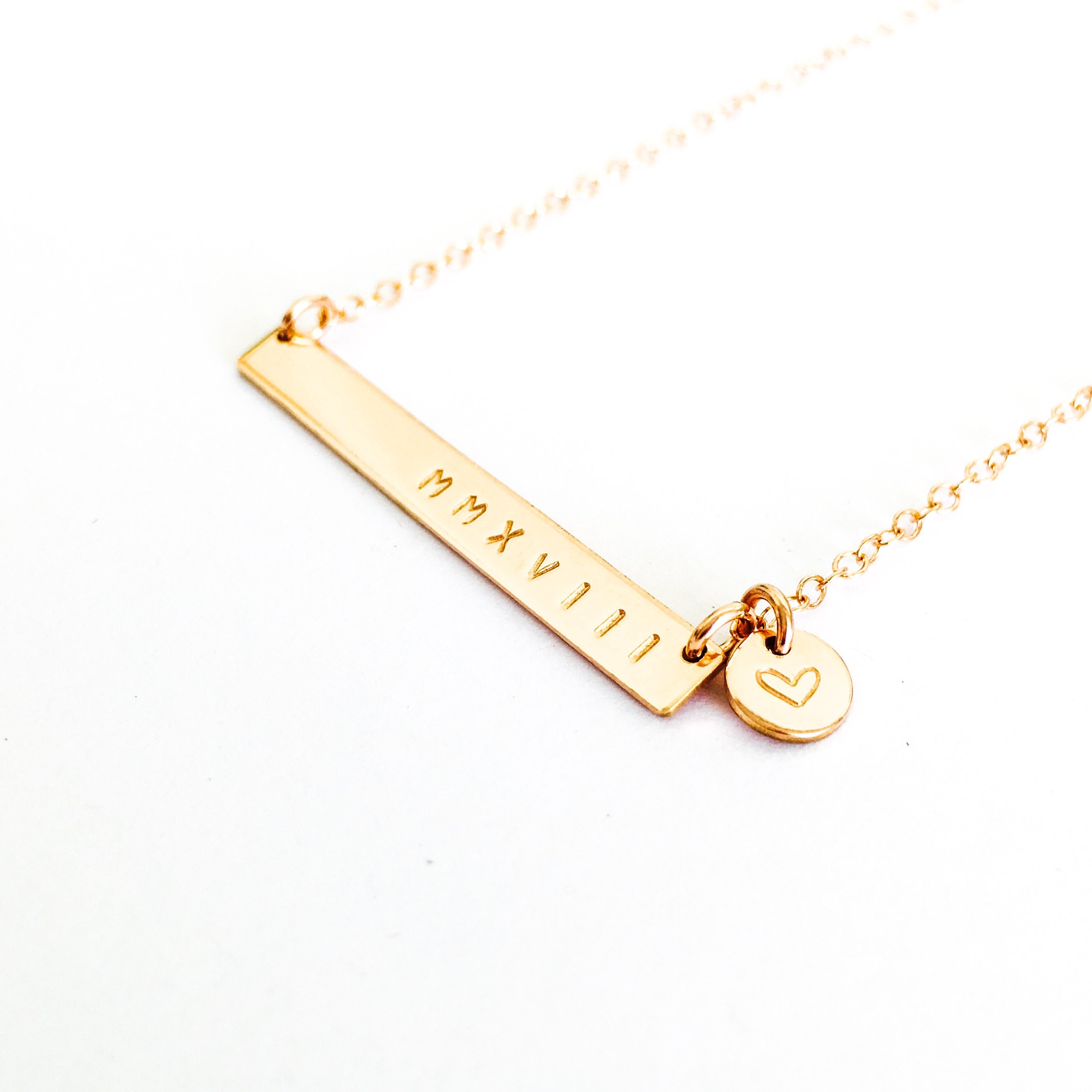 Sammy Skinny Bar name Necklace australia with Tiny Pendant