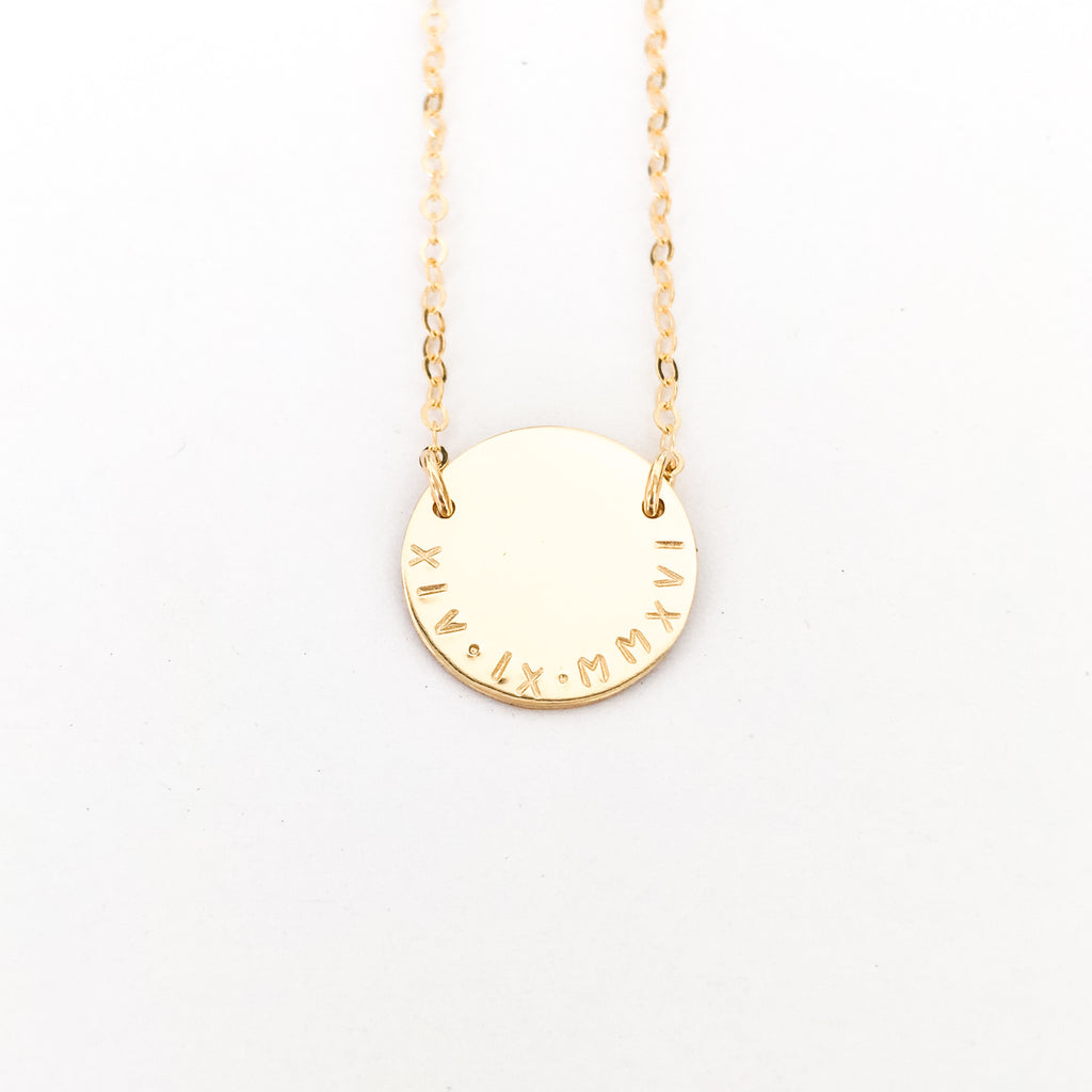 Milan - Large Curved Writing Necklace