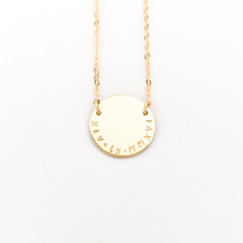 Milan - Extra Large Curved Writing Necklace