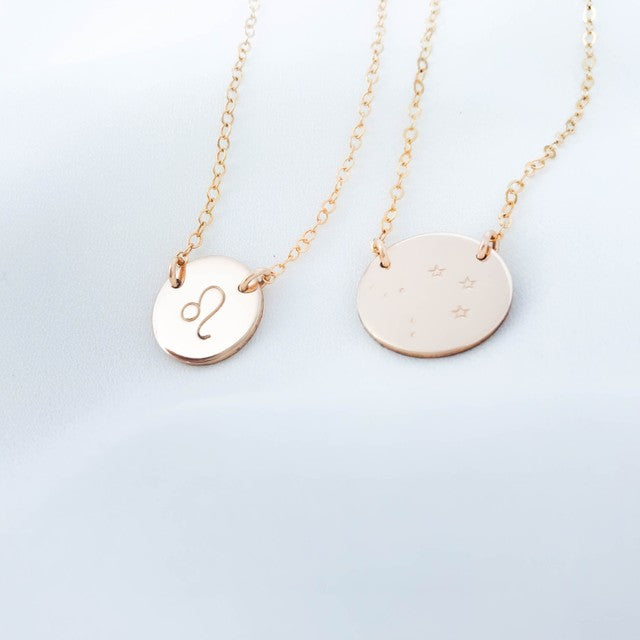 Star Sign Necklace - Medium Double Hole Pendant Necklace