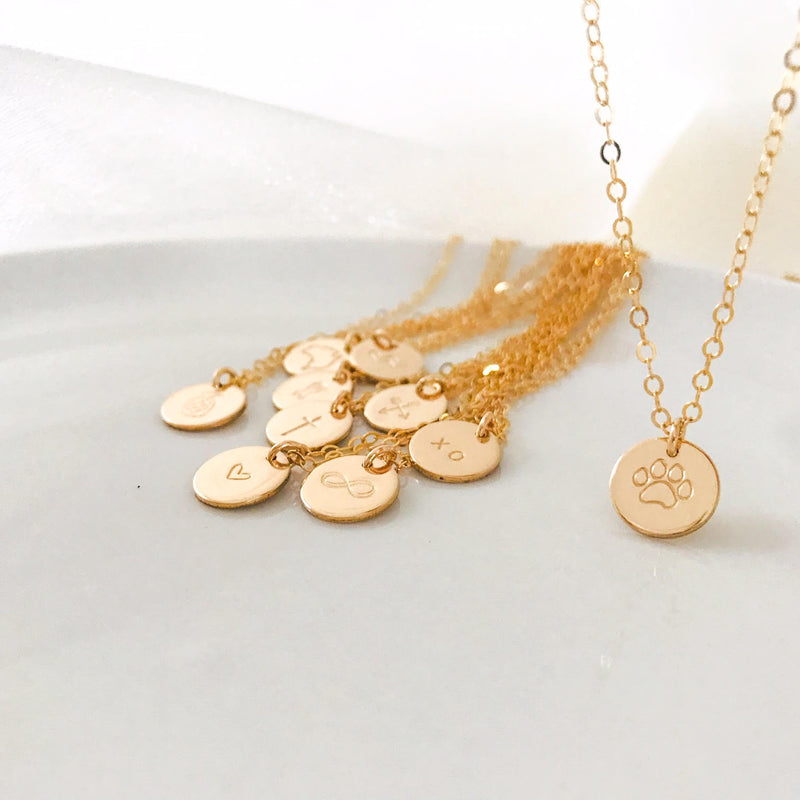 Paw Print Symbol Necklace