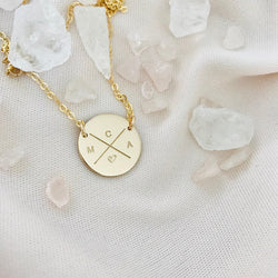 Cross My Heart - Large Pendant Necklace