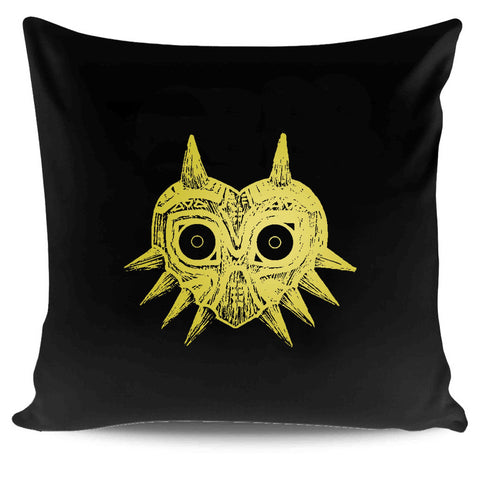 Gamer Zelda Majora's Mask Legend Of Zelda Video Games Illustration Art Throw Pillow Pillow Case Cover