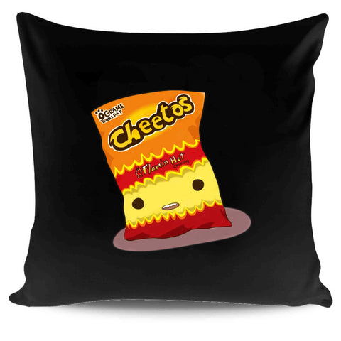 Hot Cheetos Tumblr Snack Junk Food Graphic Birthday Gift Funny Pillow Case Cover
