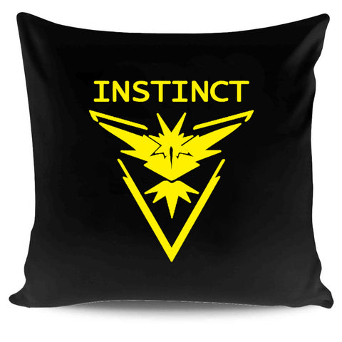 Team Instinct Pokemon Go Yellow Zapdos Lightning Pillow Case Cover