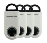 Portable Personal Security Alarm 4-Pack White-Black - MaxxmAlarm