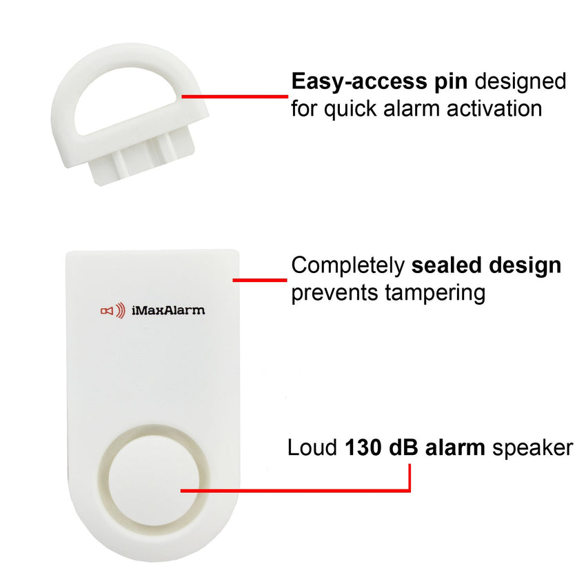 Portable Personal Security Alarm Matte White - MaxxmAlarm